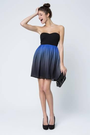 Tally Weijl, black dip dye skater dress
