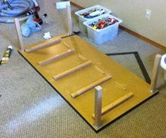 Cheap storage solutions   ... it off and we were done. One DIY Lego Activity table with storage