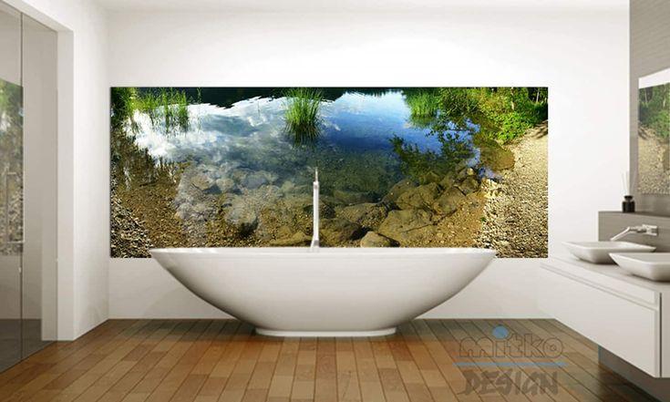 Tauchen Sie In Den See Xxl Glasbild Im Badezimmer Moderne Badezimmer Von Mitko Glas Design Modern Glas Homify Glasbilder Badezimmer Innenarchitekt