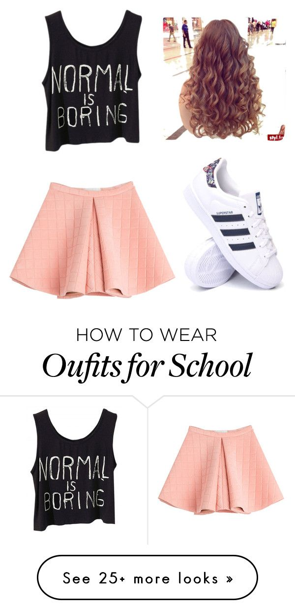 """first day of school"" by duhitzkaylee on Polyvore featuring Marina Hoermanseder and adidas"