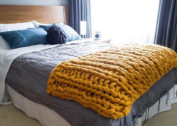Chunky Merino Bed Runner Winter Blanket Australian Made Gift