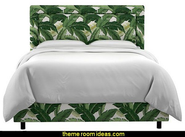 Winslow Upholstered Panel Bed  Tropical beach style bedroom decorating ideas - beach bedrooms - surfer theme rooms - tropical theme Hawaiian style decorating - raffia valance window ideas - tropical bedding - tropical wall murals - palm trees decor - tropical bedroom decorating ideas - tropical furniture - tropical baby nursery decorating