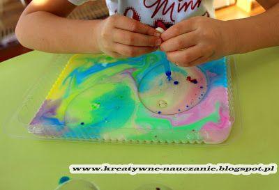 Kreatywne nauczanie: MALOWANIE NA MLEKU