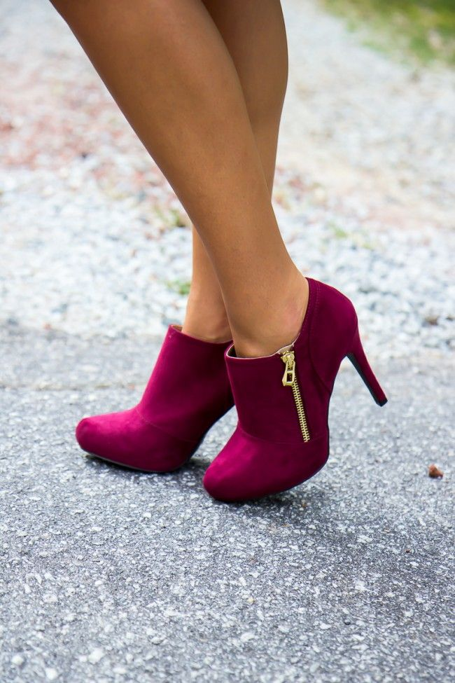 Colored booties! Maybe not with a high high high heel...