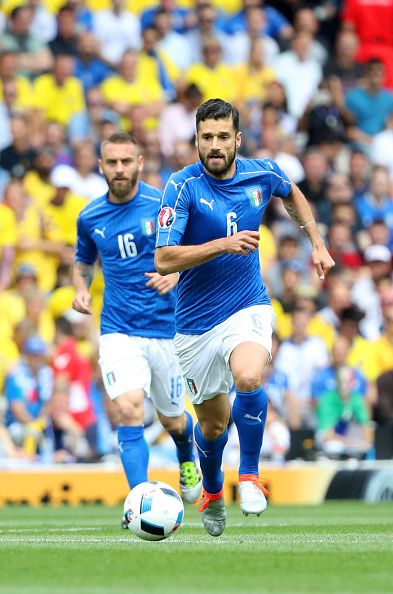 Antonio Candreva of Italy during the UEFA EURO 2016 Group E match between Italy and Sweden at Stadium Municipal on June 17 2016 in Toulouse France