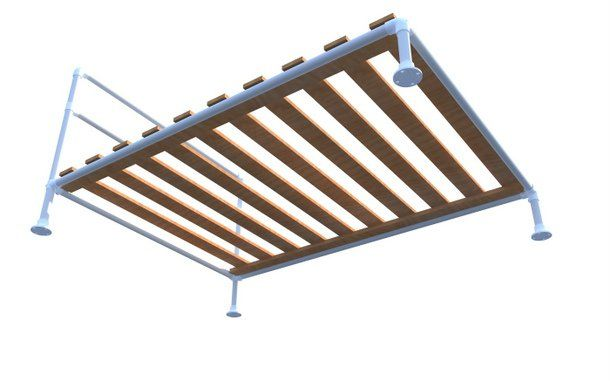 DIY Pipe Bed Instructions  Pipe Bed Frame - Underneathe View