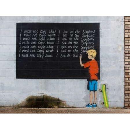 Posterazzi New Orleans-graffiti attributed to Banksy Canvas Art - Julie Dermansky (22 x 28)