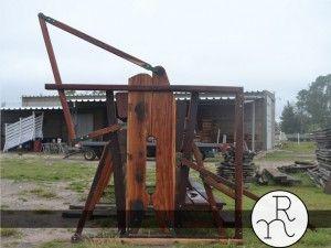 imagen cepo de madera dura para ganado vacuno