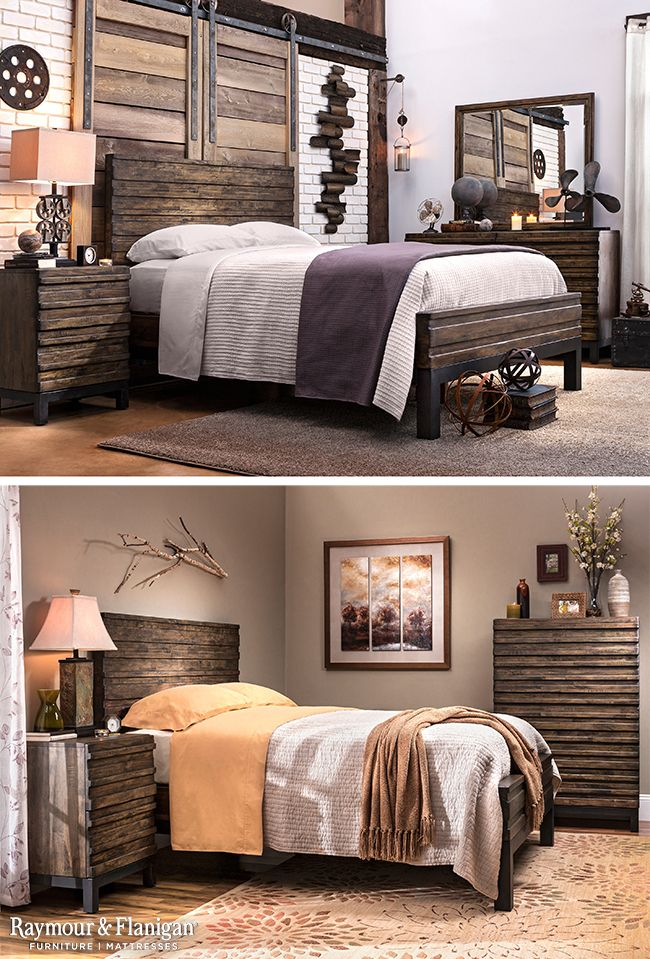 Turn your bedroom into a stunning rustic
