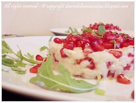 Risotto con melograno, pomegranate