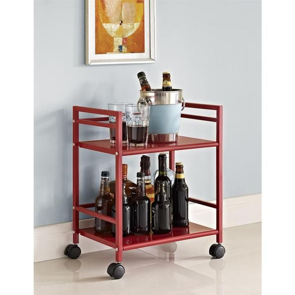 altra marshall 2shelf rolling utility cart