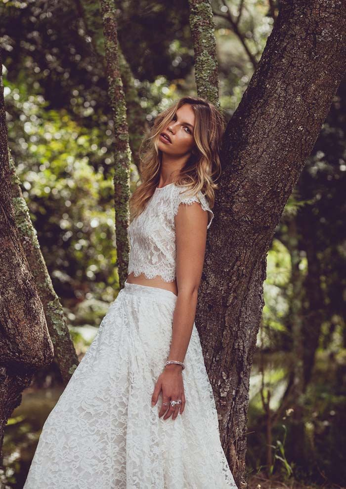 Into The Woods - A Bohemian Bridal Fashion Editorial // Photography by Our Carousel Studios / Styling by Kimberlee Kessler / Gowns by Love Marie Bridal / Jewellery by Pandora / Hair and Makeup by Veronika Moreira