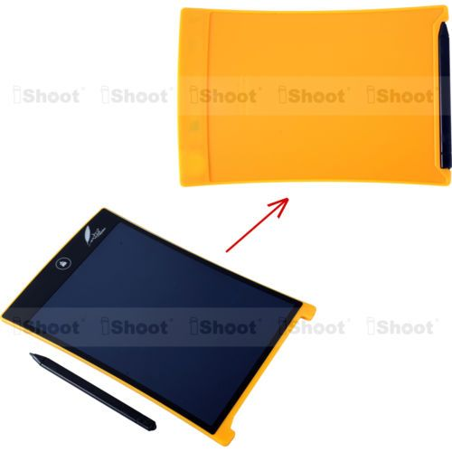 "Yellow 8.5""lcd digital writing pad #notepad drawing #tablet graphics #board ewrit,  View more on the LINK: 	http://www.zeppy.io/product/gb/2/111875563550/"