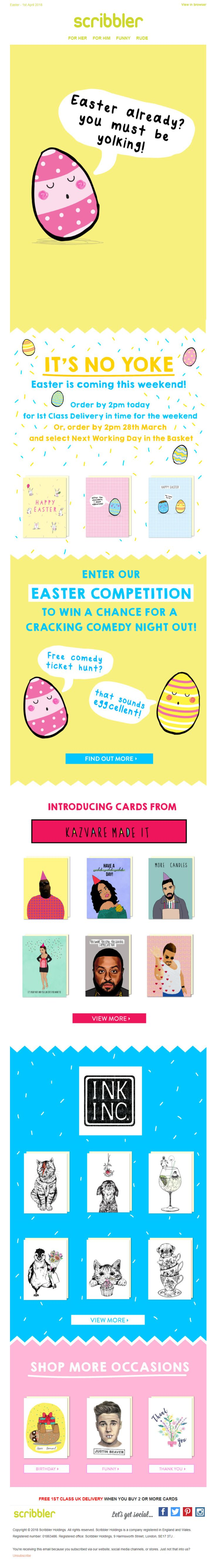 123 best easter emails images on pinterest easter card recommendations email from scribbler emailmarketing email marketing easter product negle Gallery
