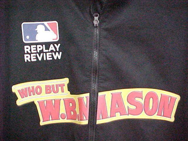 WB MASON MLB Replay Men Full Zipper Black Rain Golf Thermal Jacket L Antigua #Antigua #BasicJacket