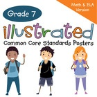 The Common Core Crunch is coming! Bring the 7th Grade math and English Standards to life with these posters! These posters for seventh grade are unique because the concept of each standard is accompanied by a colorful graphic that makes it easier for parents and students to understand the standard.