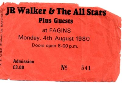 TICKET FAGIN'S - 04.08.1980 – MANCHESTER DISTRICT MUSIC ARCHIVE