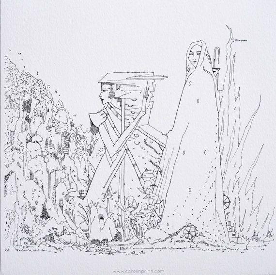 Fine Archival Art Print of Original by CPrinnIllustration on Etsy