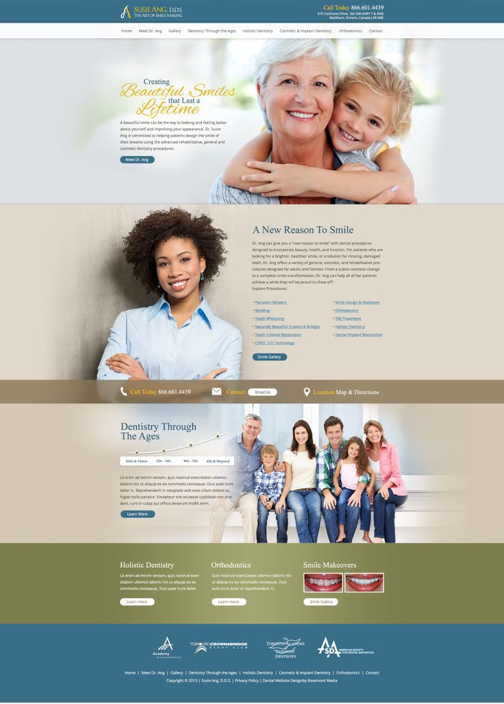 dental websites examples