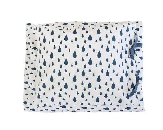 ORGANIC Toddler Bedding set  Raindrops by ColetteBream on Etsy