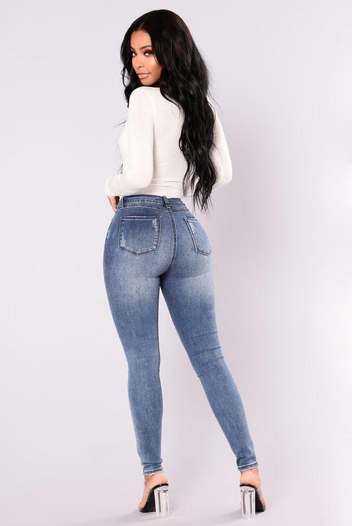 Sweet Cheeks Ankle Jeans - Medium Blue Wash