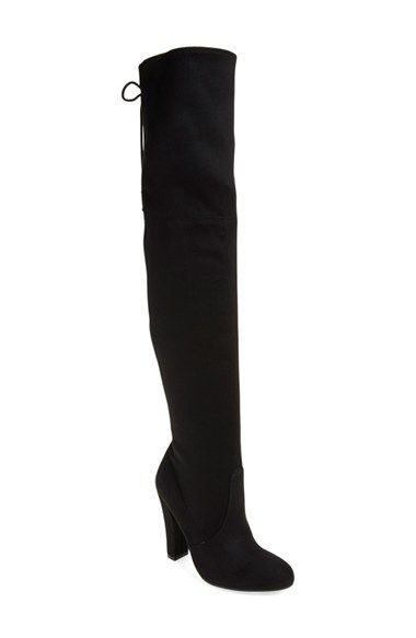 Free shipping and returns on Steve Madden 'Gleemer' Over the Knee Boot (Women) at Nordstrom.com. Instantly embolden your look with a dramatic over-the-knee boot featuring a lush, sueded finish. Corset-inspired back laces perfect the fit while dialing up the retro allure.