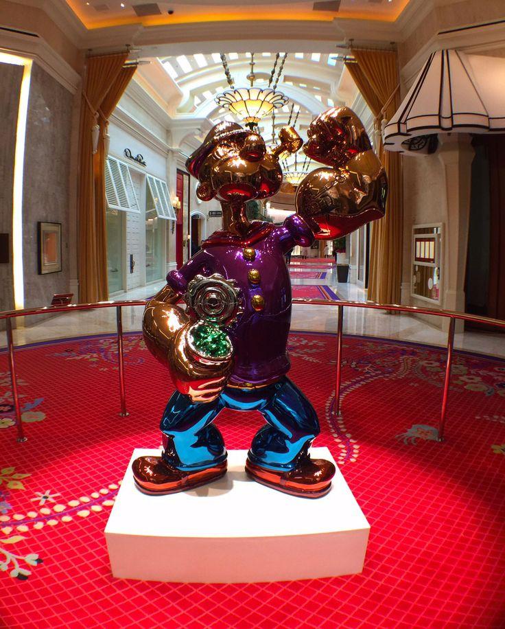 Here's a Vegas Fun Fact Jeff Koons' Popeye statue Wynn