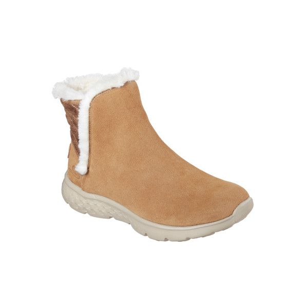 Skechers Women's Skechers On The Go - Cozies Brown 6.5 - Skechers... (100 CAD) ❤ liked on Polyvore featuring shoes, sneakers, brown, skechers footwear, brown suede shoes, suede slip on shoes, slip-on sneakers and slip on trainers