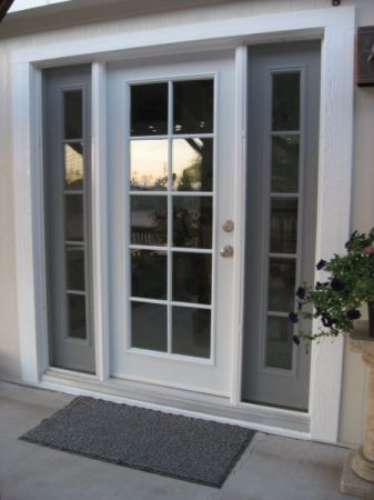 Single french style door with insulated glass and for Patio doors with side panels