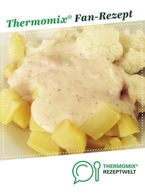 Kartoffeln und Blumenkohl mit Käseschinkensoße
