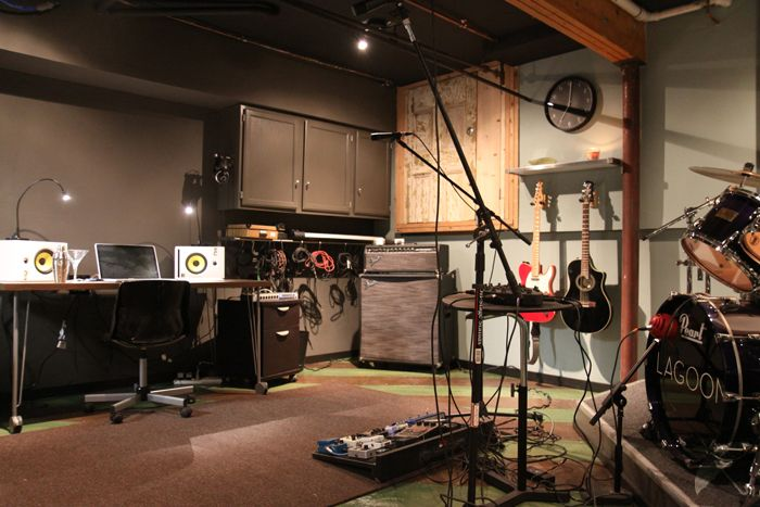 finished basement home recording studio