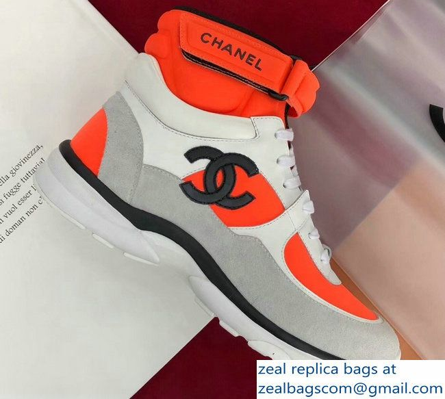 Chanel CC Logo High-Top Sneakers G33862
