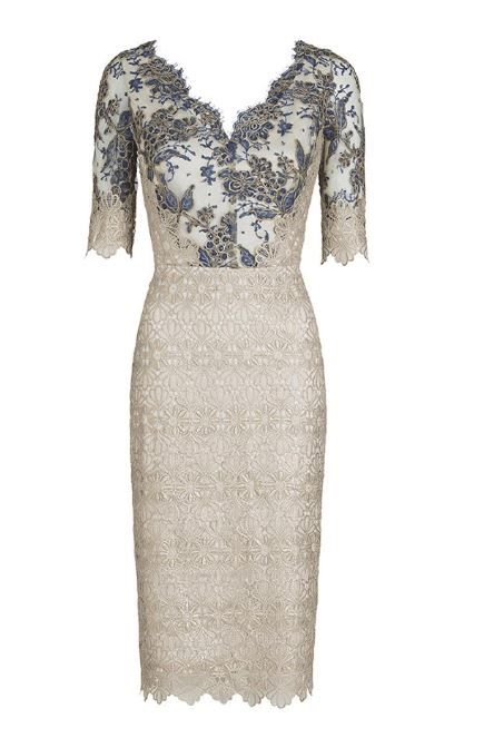Gold lace dress | Wedding | Cocktail dress |  Moss & Spy SS Collection.
