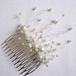 Pieptan mireasa, pieptan par nunta cu perle sticla