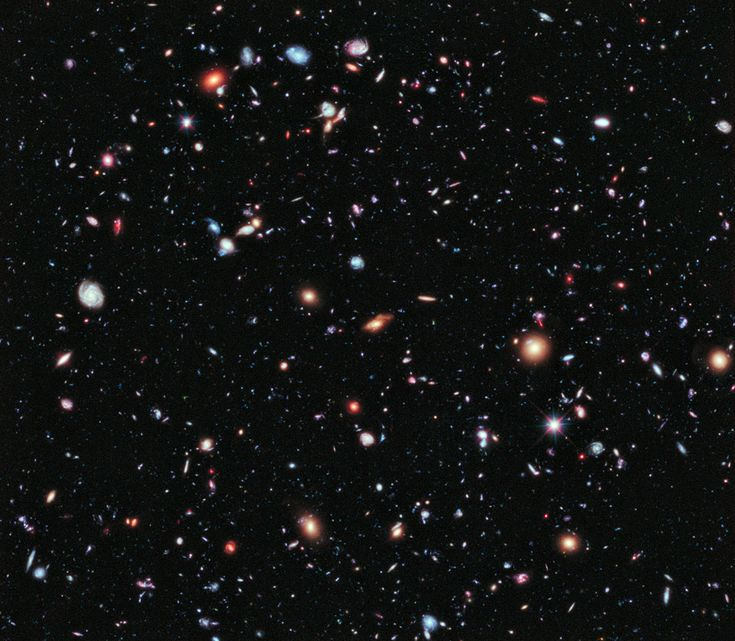 Called the eXtreme Deep Field, or XDF, the photo was assembled by combining 10 years of NASA Hubble Space Telescope photographs taken of a patch of sky at the center of the original Hubble Ultra Deep Field. The XDF is a small fraction of the angular diameter of the full Moon. Image released September 25, 2012.