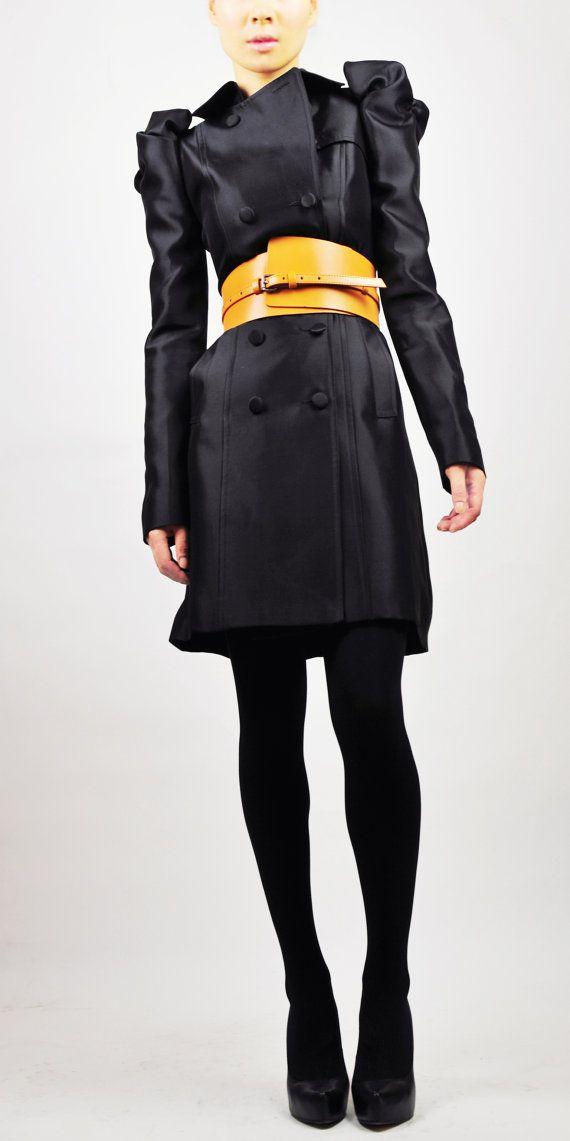 Black chic trenchcoat by EllaLai on Etsy, $184.00