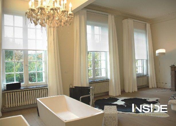 25 beste idee n over hoge ramen op pinterest slaapkamer raambekleding muur gordijnen en - Gordijnen voor moderne woonkamer ...