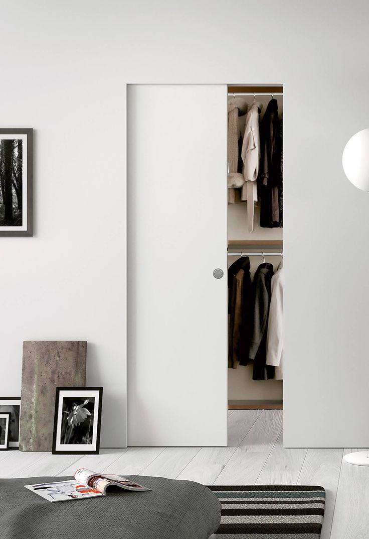 Interior sliding door design ideas - Eclisse Syntesis Line Single As A Wardrobe Door Internal Sliding