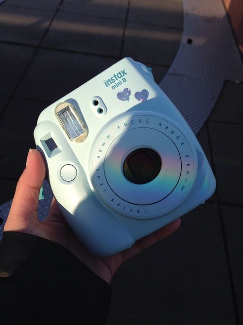 Light Blue Polaroid Camera Photography Polaroid Camera