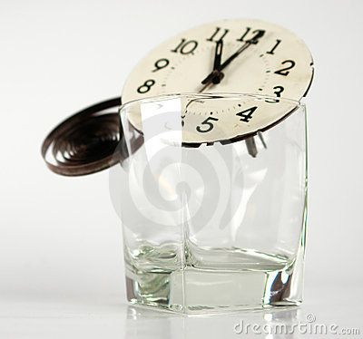 Clock time glass transparency spring hour digit