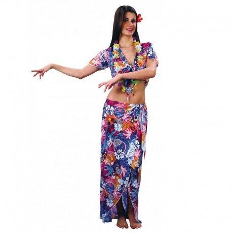Disfraces hawaianos mujer | Disfraz de hawaiana chica muy indicado para fiestas hawaianas. Contiene falda, camisa y flor para el pelo. Talla M. 11,95€ #disfraces #hawaianos #disfraz #hawai #hawaiana