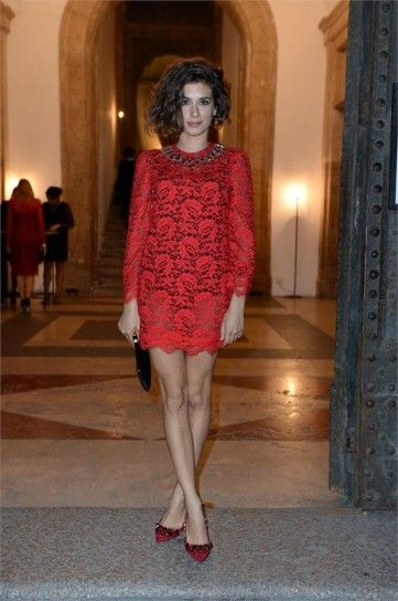 Giulia Michelini in Dolce e Gabbana