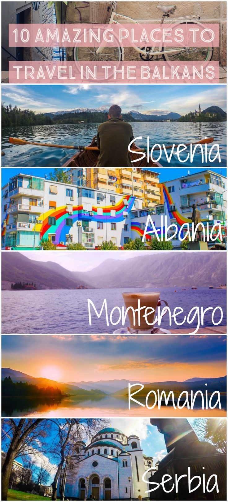Some of the best places to visit in the Balkans and throughout Eastern Europe. Through Slovenia, Albania, Croatia, Montenegro, Macedonia, Romania, and Serbia!
