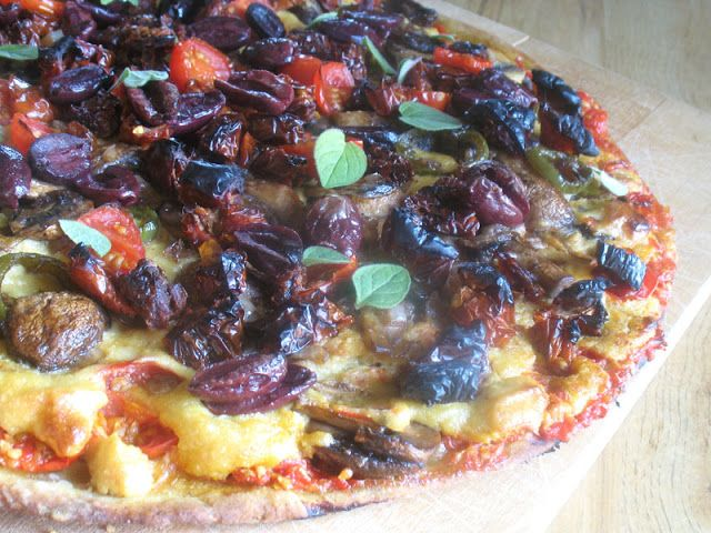 Sun-Dried Tomato Pizza with Olives and Cashew Cheese