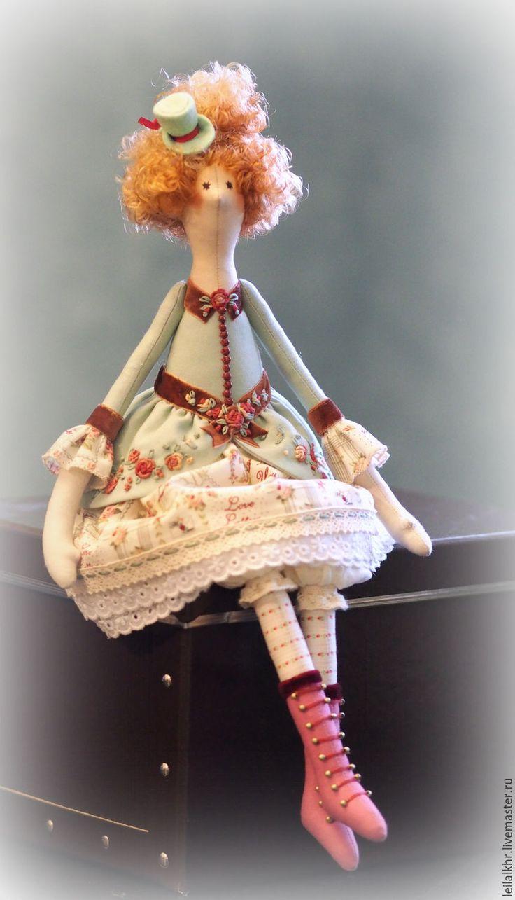 """Купить Тильда """"Мадемуазель Жули"""" - мятный, тильда, тильда кукла, тильда ангел, тильда принцесса"""