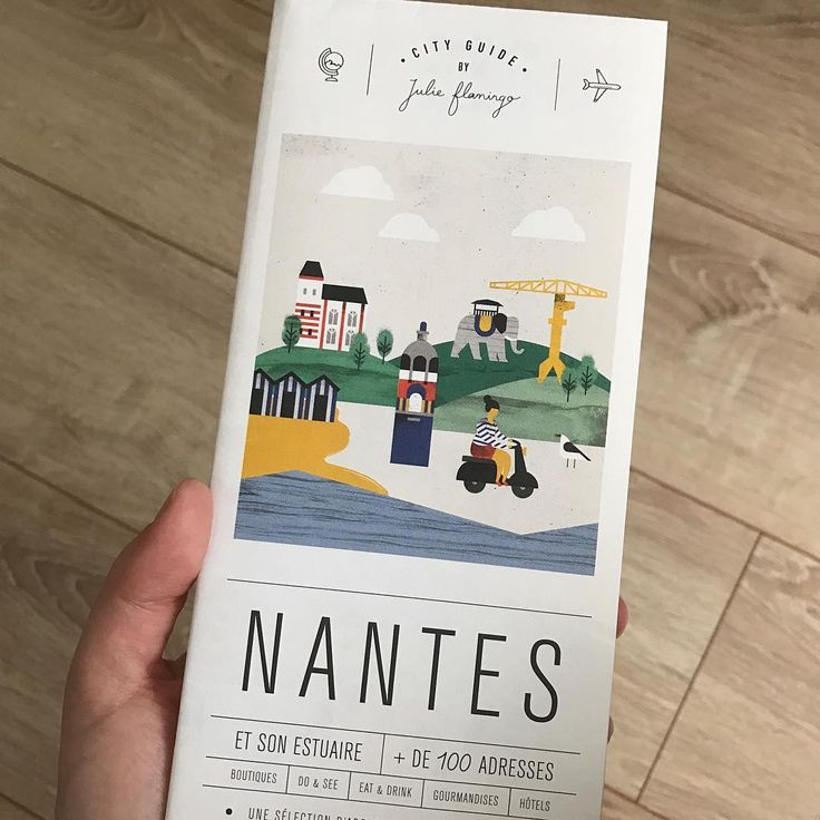 Le très joli city guide de #Nantes par @julie.flamingo ✨ #cityguide #julieflamingo #noemiecedille #art #artwork #voyage #decouverte #coupdecoeur