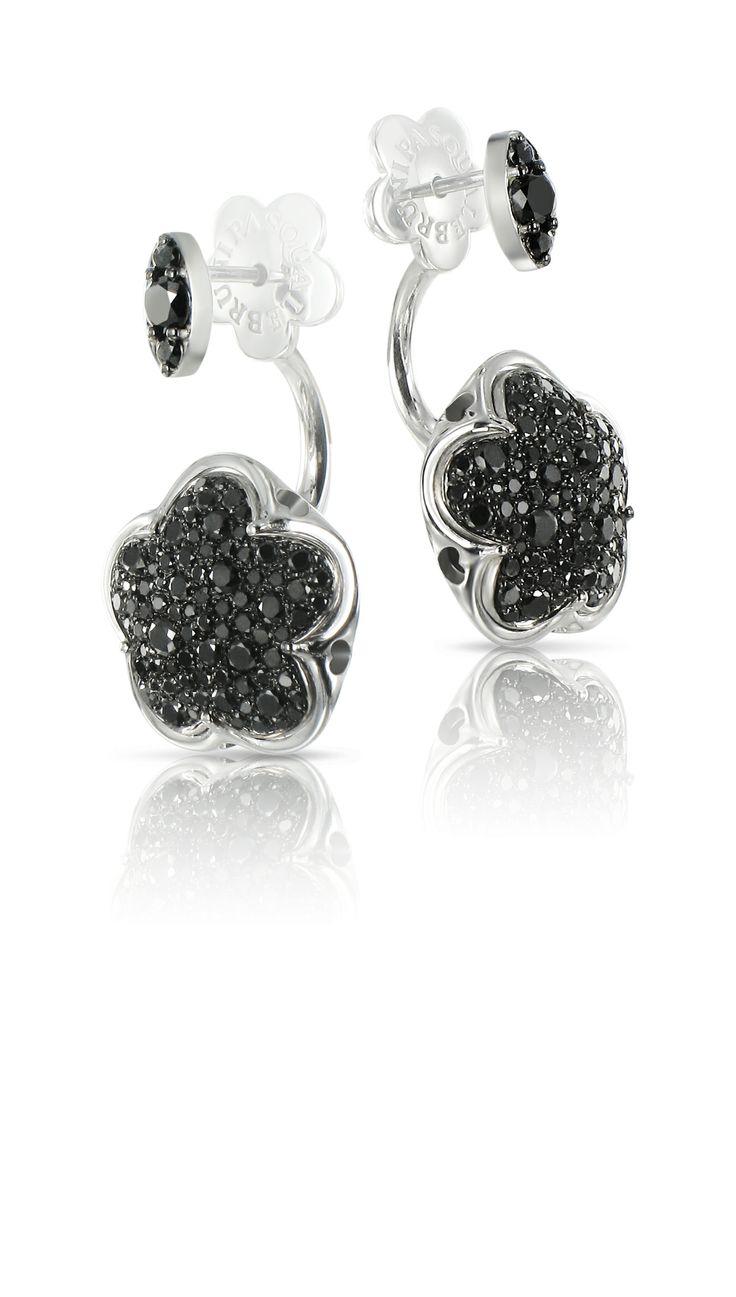 bon Ton black diamonds earrings