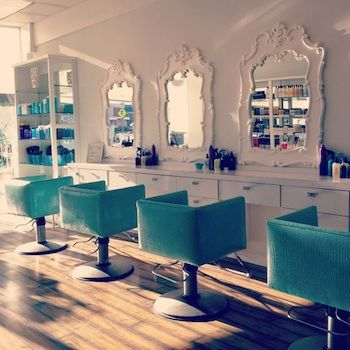 The 10 Best Blow Dry Bars in Los Angeles: Blowing Dry, Turquoise Chair, Hair Salons, Salons Decor, Salons Ideas, Chairs, The Angel, Blowing Angel, Beautiful Salons