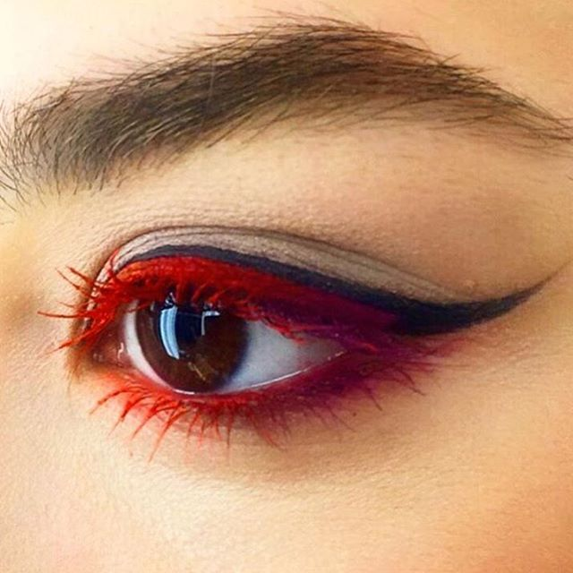 Eye of the tiger #regram from @tugbabeyazoglu at M·A·C Nisantasi in Istanbul, Turkey – created using Retro Matte Liquid Lipcolour in Bengal…