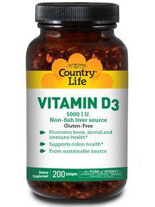 Country Life- Vitamin D3 5000 IU 200 gels